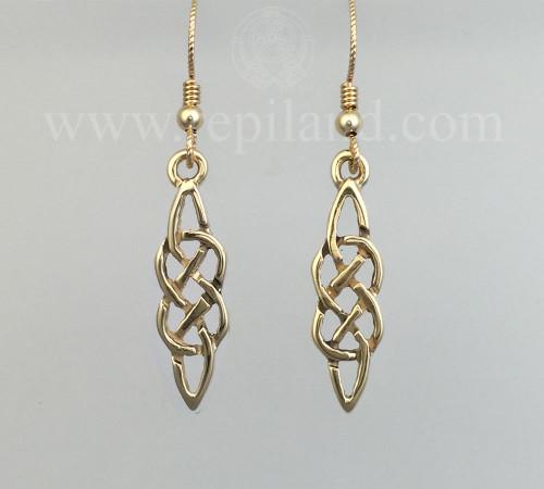 Neamhain Earrings, classic drop knotwork.