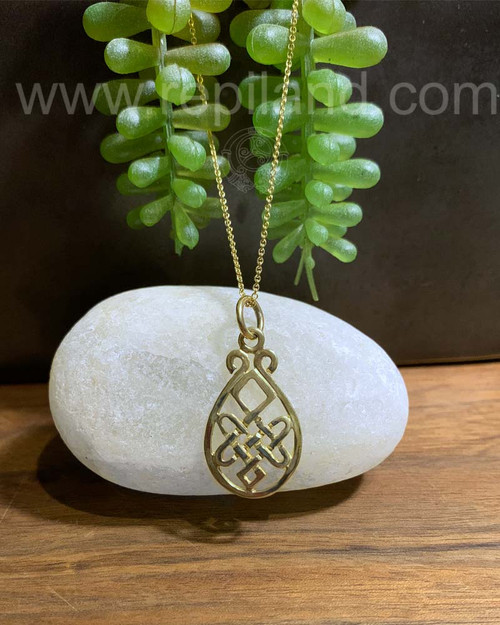 Nerys Knot Pendant, gold