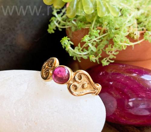 Nemetona Gem Ring, gold