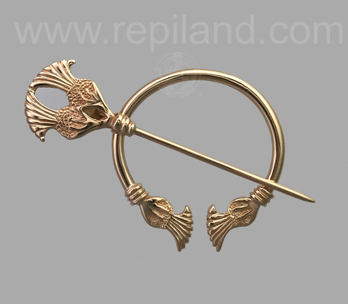 Plume thistle penannular rose gold.