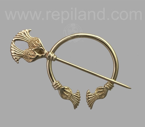 Plume thistle penannular yellow gold.