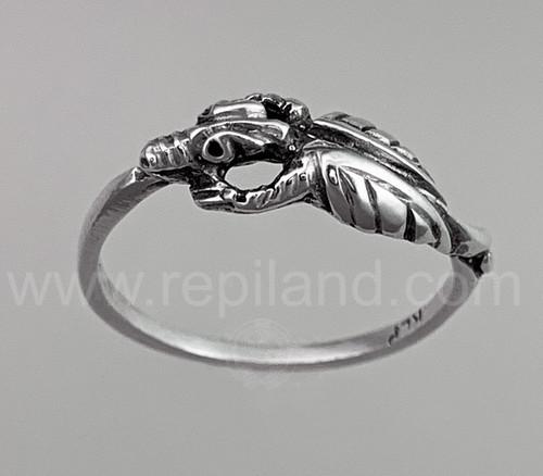 Drakaina Ring, sterling