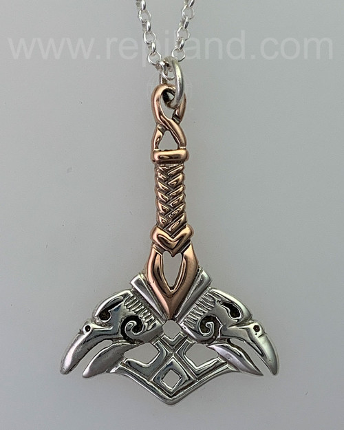 Orkney Hammer Pendant, sterling & gold 2