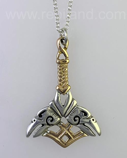 Orkney Hammer Pendant, sterling & gold 3