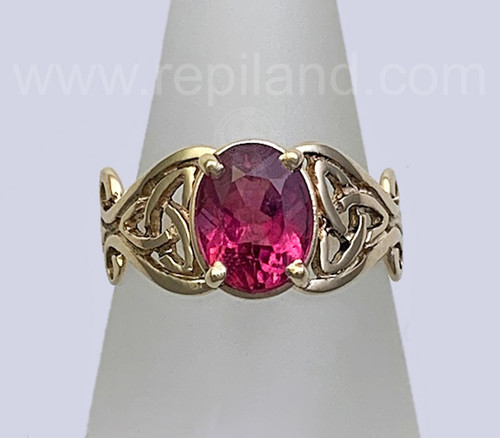 14kt yellow gold Koulmia Ring with 2.15ct Pink Tourmaline.