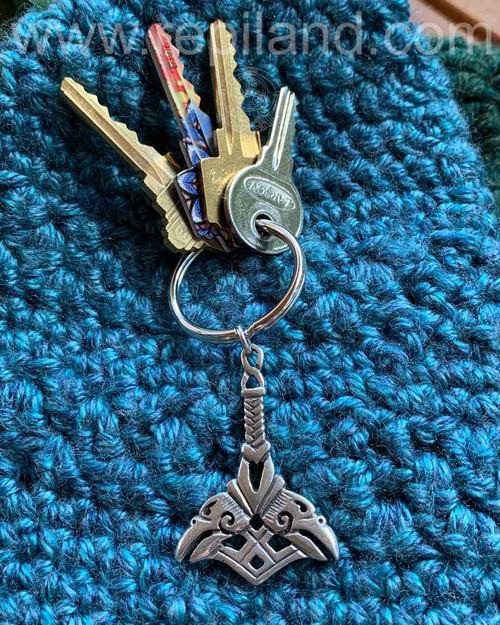 Orkney Hammer KeyRing, sterling