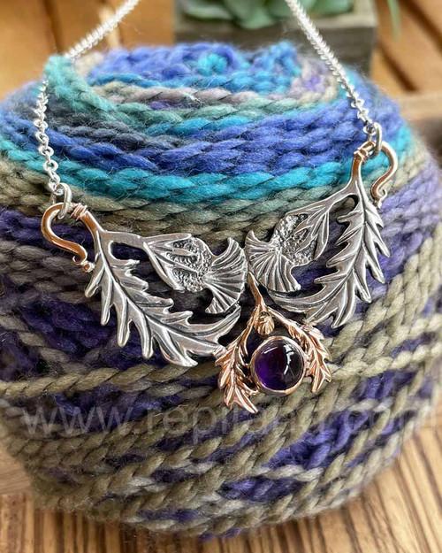 Caledonia Gem Necklace, sterling & gold
