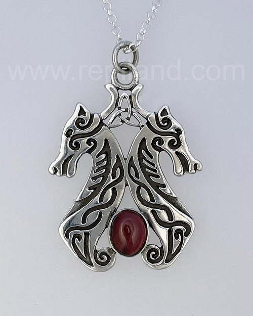 Rob's Hounds Pendant, sterling