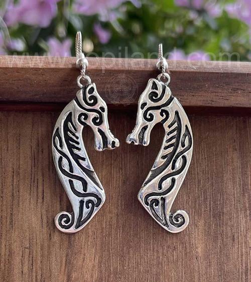 Madra Earrings, Sterling