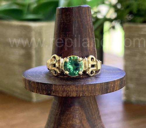 Fenella Ring with .92ct Tsavorite Garnet