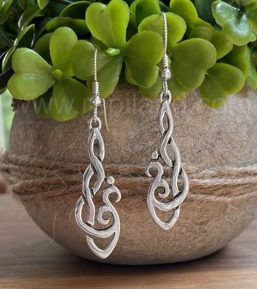 Hafgan Knot Earrings, sterling