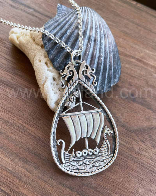 Dreki Pendant, viking dragonship