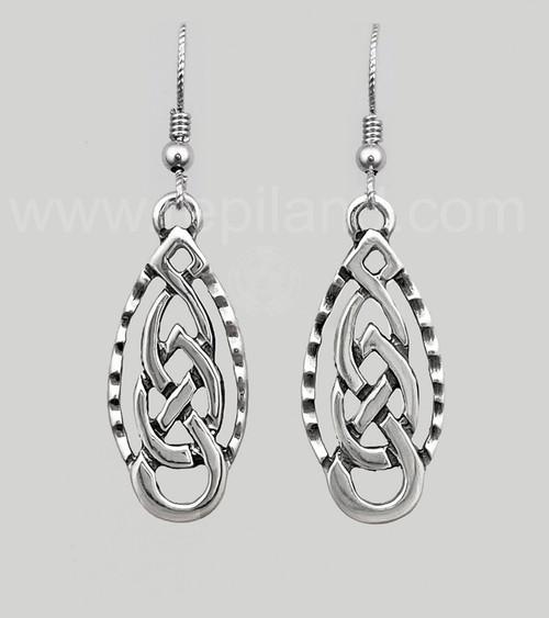 Aleine Knot Earrings, sterling