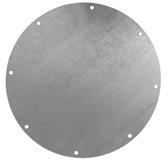 End Plate Galv 12ga 8in