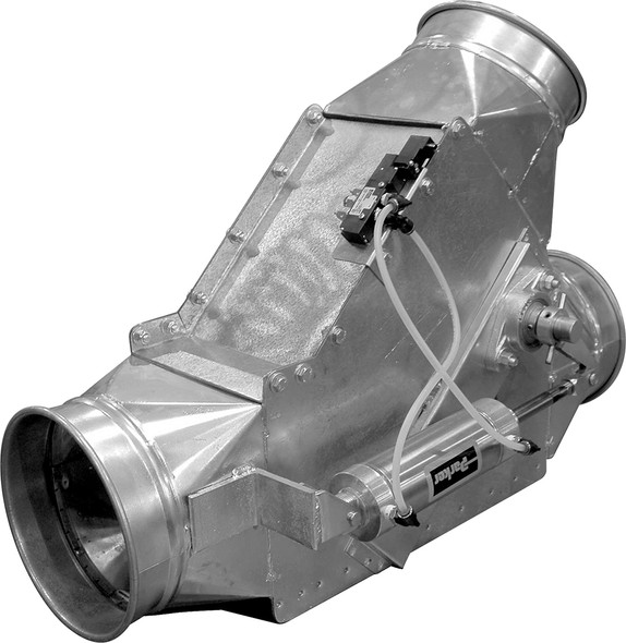 Diverter SD Auto Galv 14ga 5QF 24 VDC Dbl Actg RS