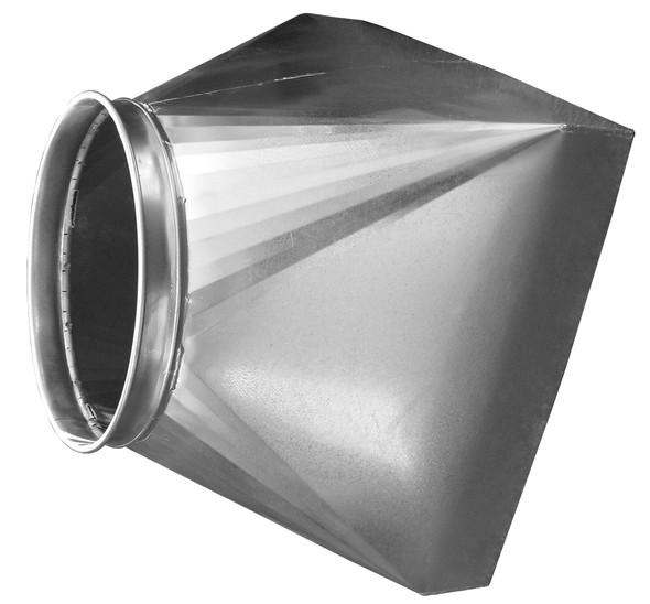 Hood Canopy 304SS 18ga 24SQ 16QF