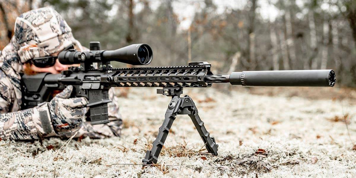 hunter with ar-15
