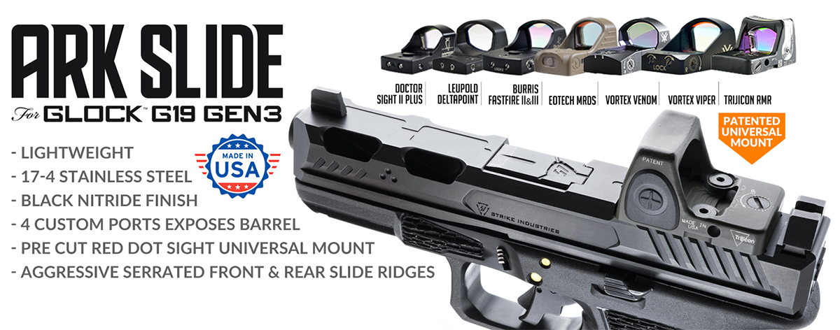 Strike Industries ARK Slide for Glock 19