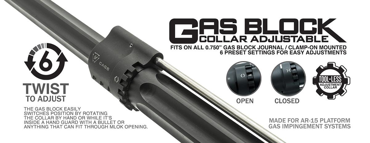 Strike Industries Collar Adjustable Gas Block