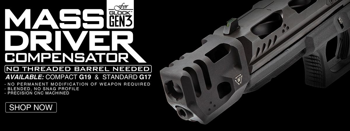 Strike Industries Mass Driver Comp for Gen 3 Glock 17 & 19