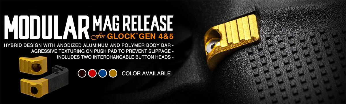Strike Industries Modular Mag Release For Gen 4-5 Glock