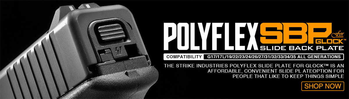 Strike Industries PolyFlex Slide Back Plate for Glock