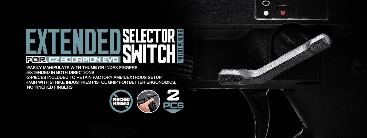 Strike Industries CZ Scorpion Extended Safety Selector Switch