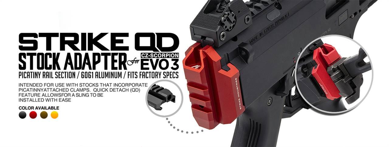 Strike Industries CZ Scorpion EVO 3 Stock Adapter Back Plate