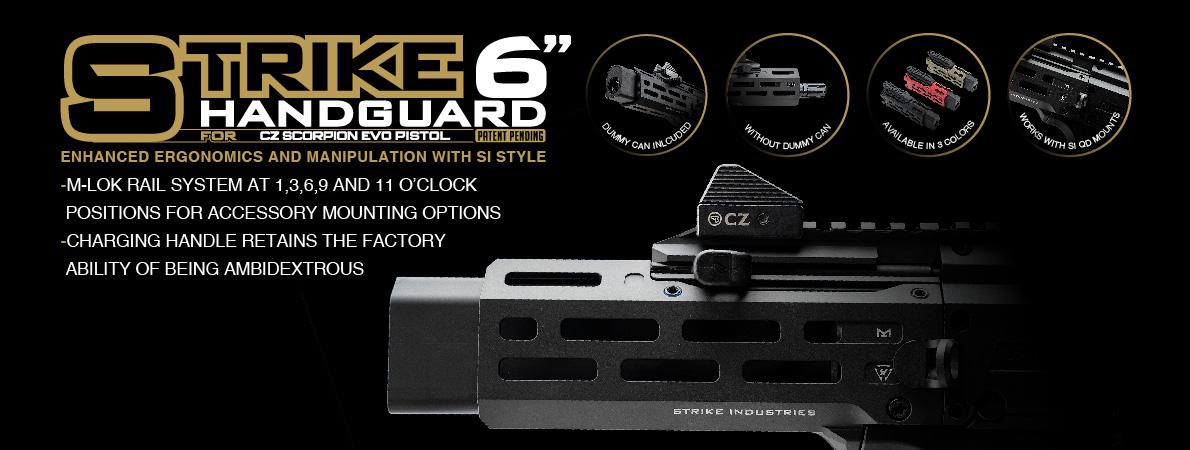 "Strike Industries 6"" Handguard for CZ Scorpion EVO"