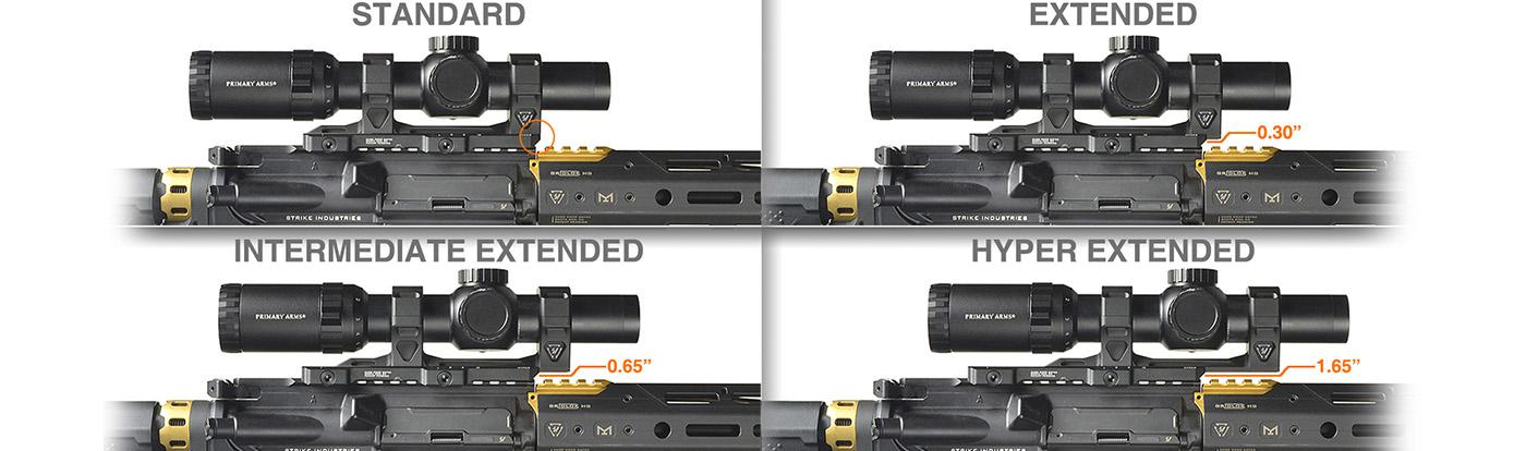 Strike Industries Adjustable Scope Mount Positions