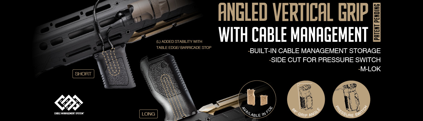 Strike Industries Angled Vertical Grip with Cable Management