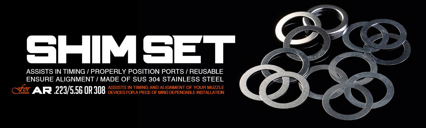 Strike Industries Muzzle Device Alignment Shim Kit