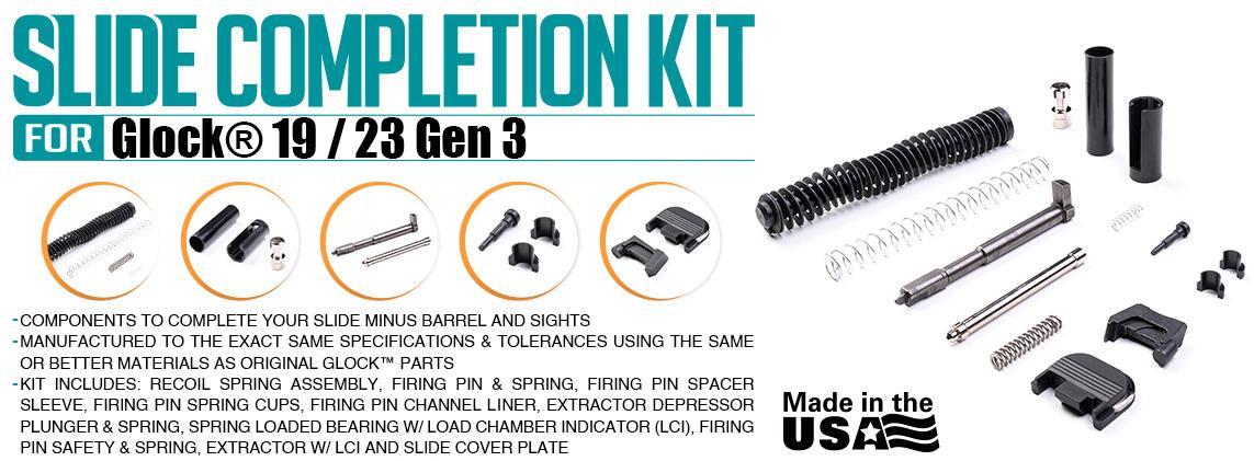 Strike Industries Slide Completion Kit for Glock 19/23 Gen3