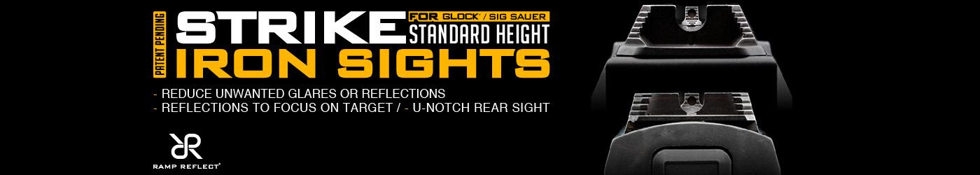 Strike Industries Standard Height Iron Sight Set for Glock