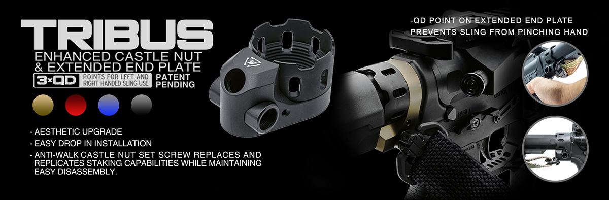 Strike Industries TRIBUS Enhanced Castle Nut and Extended QD End Plate