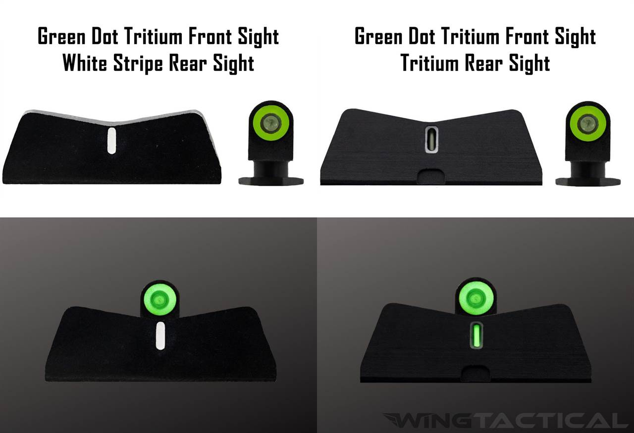 XS Sight Systems Standard Dot Tritium Sights for Glock 42,43,43X,48 (DXT2/DXW2)