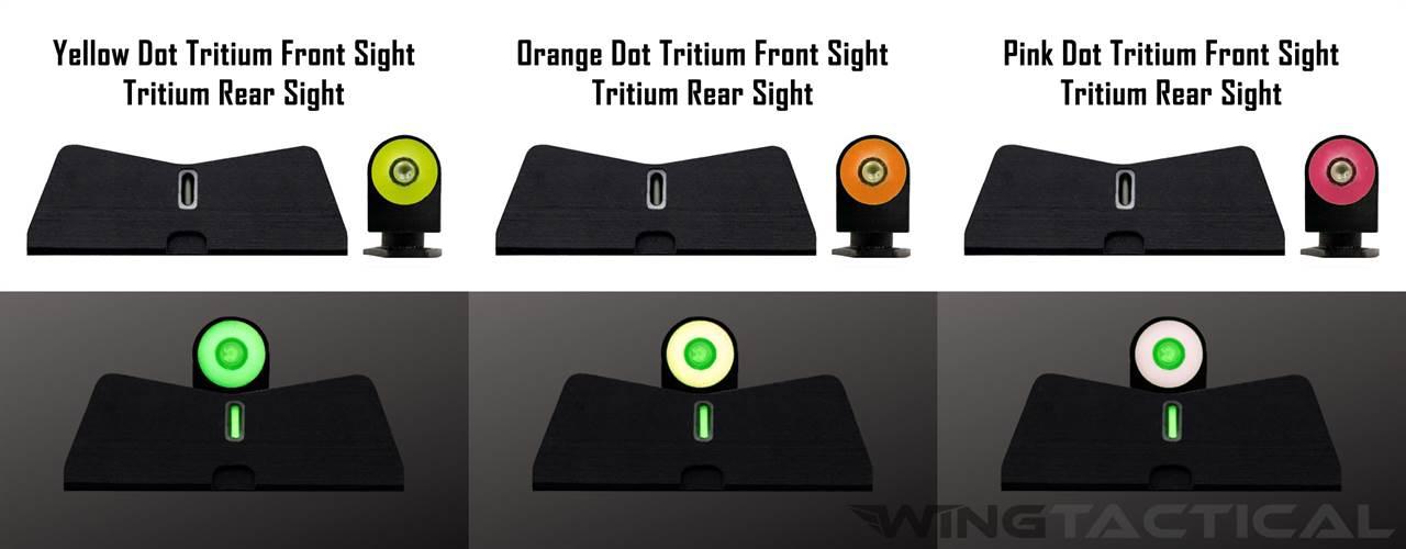 XS Sight Systems Big Dot Tritium Sights for Glock 42,43,43X,48 (DXT/DXW)