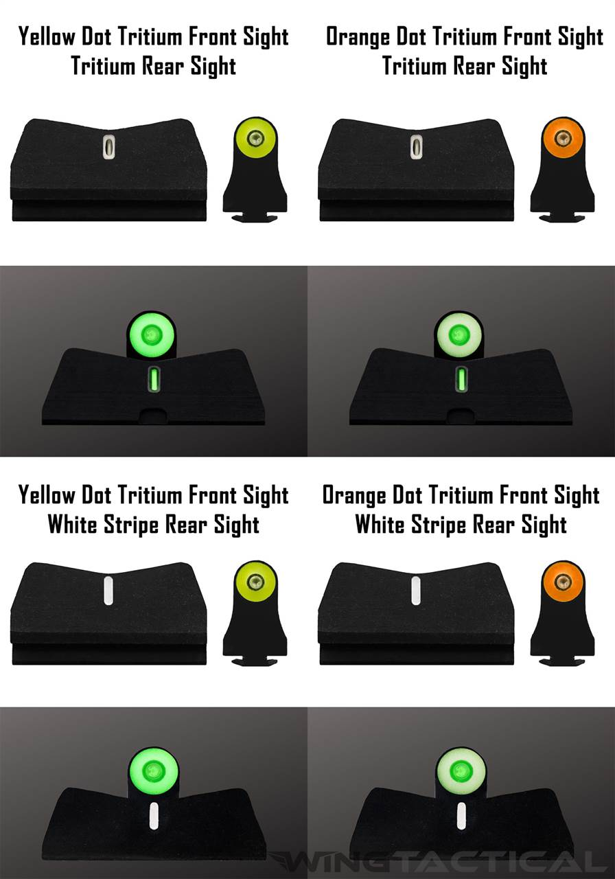 XS Sight Systems Big Dot Tritium Suppressor Sights for Glock 17,19,22-24,26,27,31-36,38,45