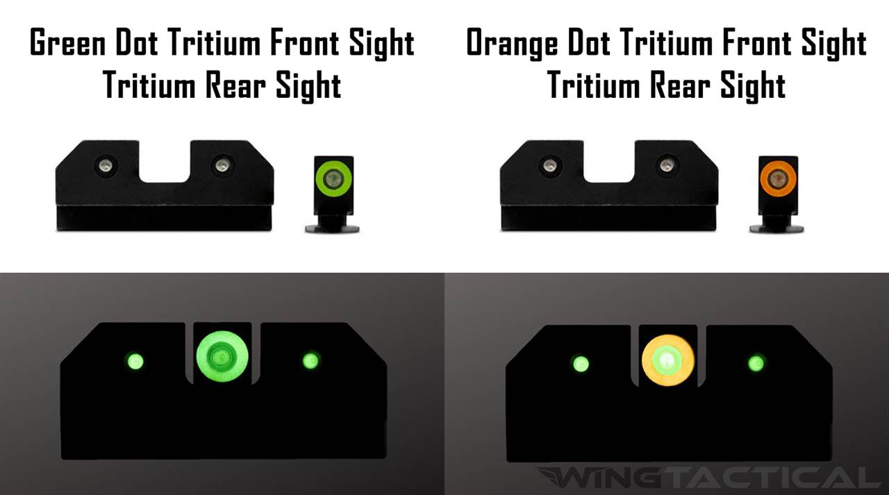 XS Sight Systems R3D Night Sights for Glock 17,19,22-24,26,27,31-36,38,45
