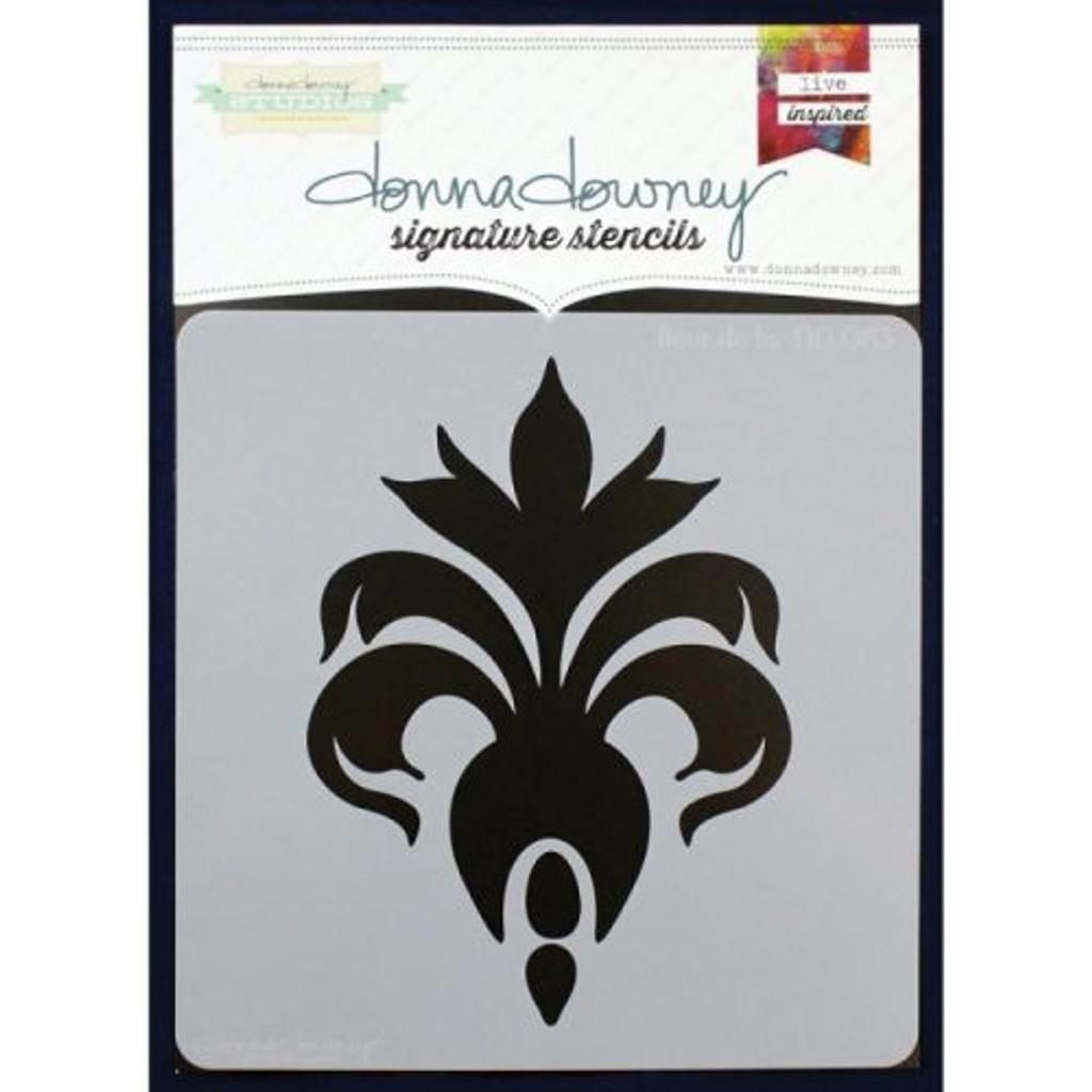 Donna Downey Stencil Fleur de Lis (45086033)