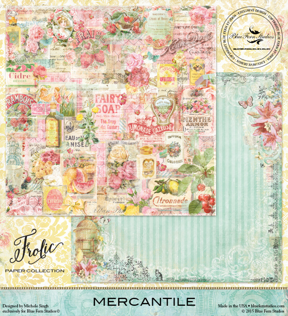 Blue Fern Studios - Double-Sided Paper 12x12 - Frolic - Mercantile (8148972)