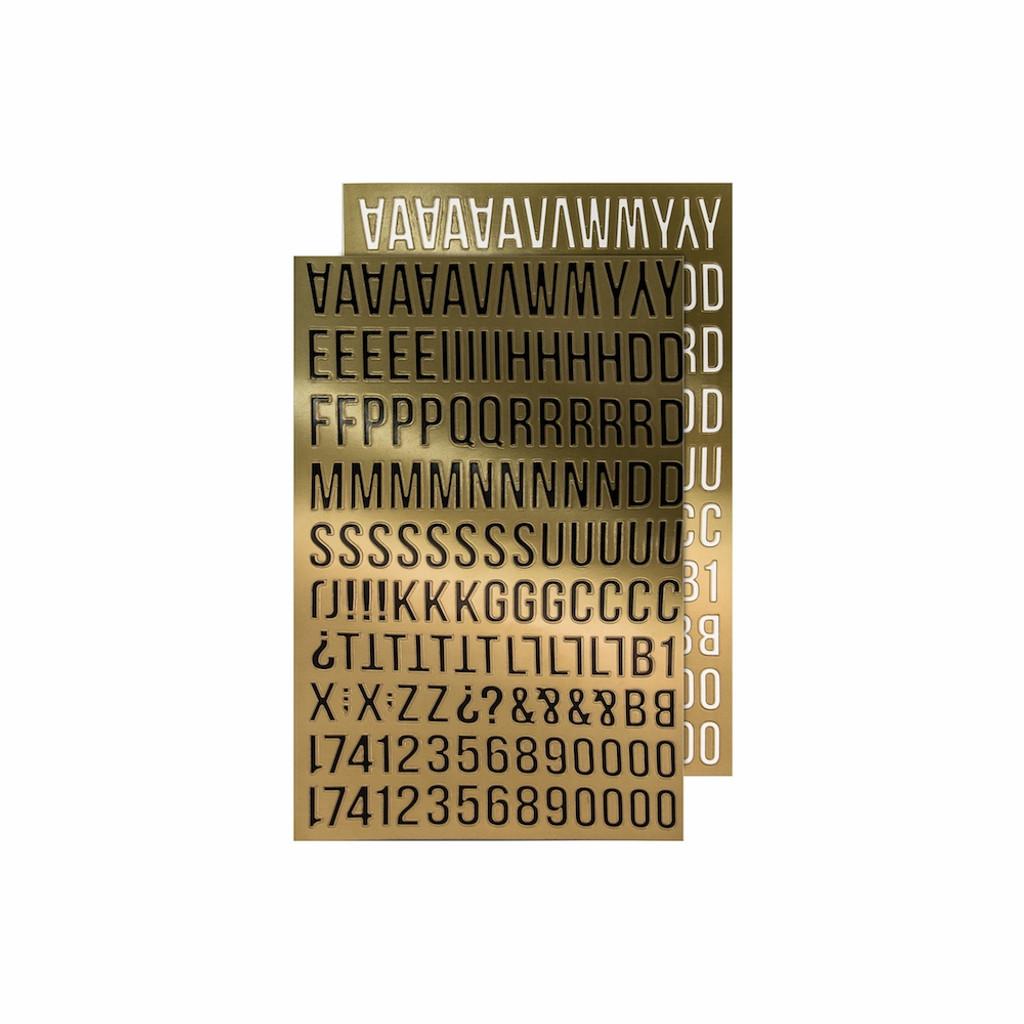 Tim Holtz - Idea ology - Metallic Stickers Alpha Gold (TH93560)