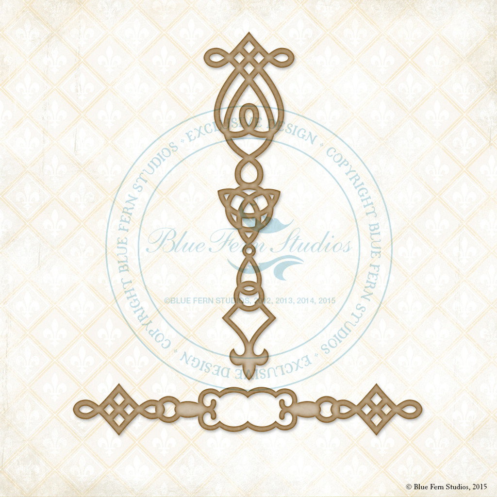 Blue Fern Studios - Chipboard - Celtic Ornaments (237866)