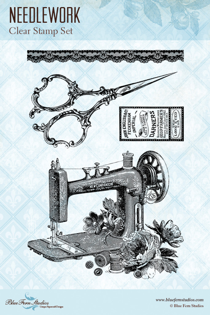 Blue Fern Studios - Clear Stamp - Needlework (109874)