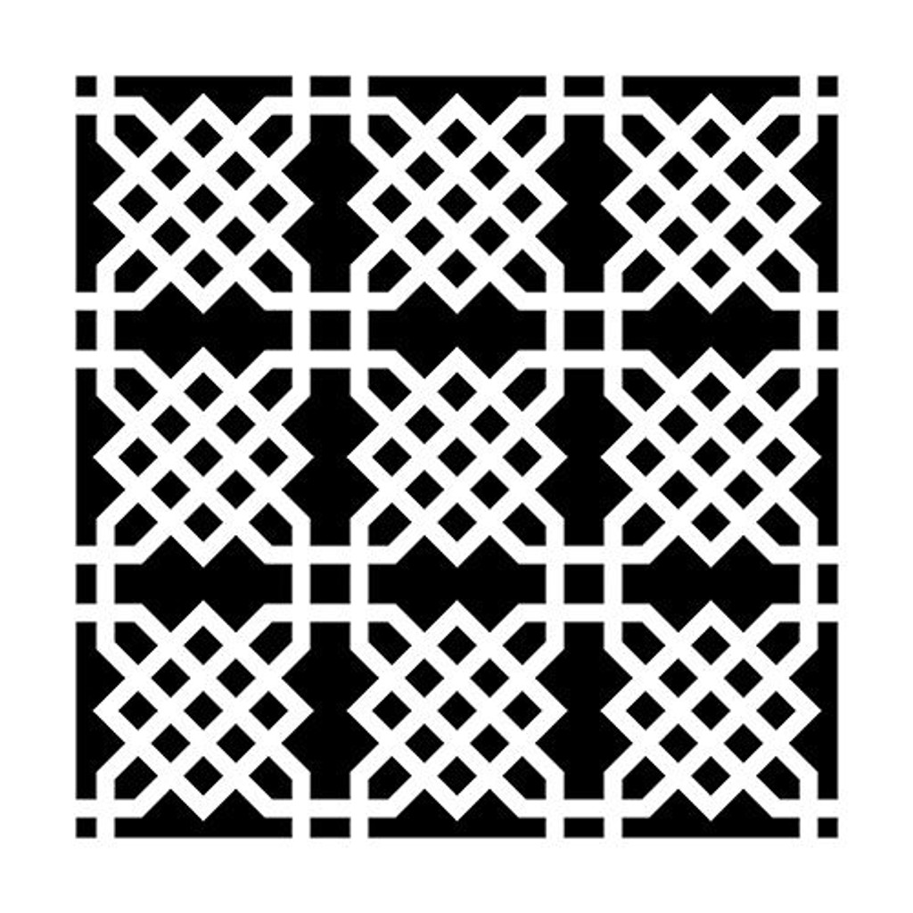 Knot Garden Crafters Workshop Ronda Palazzari 6x6 Stencil (236430)