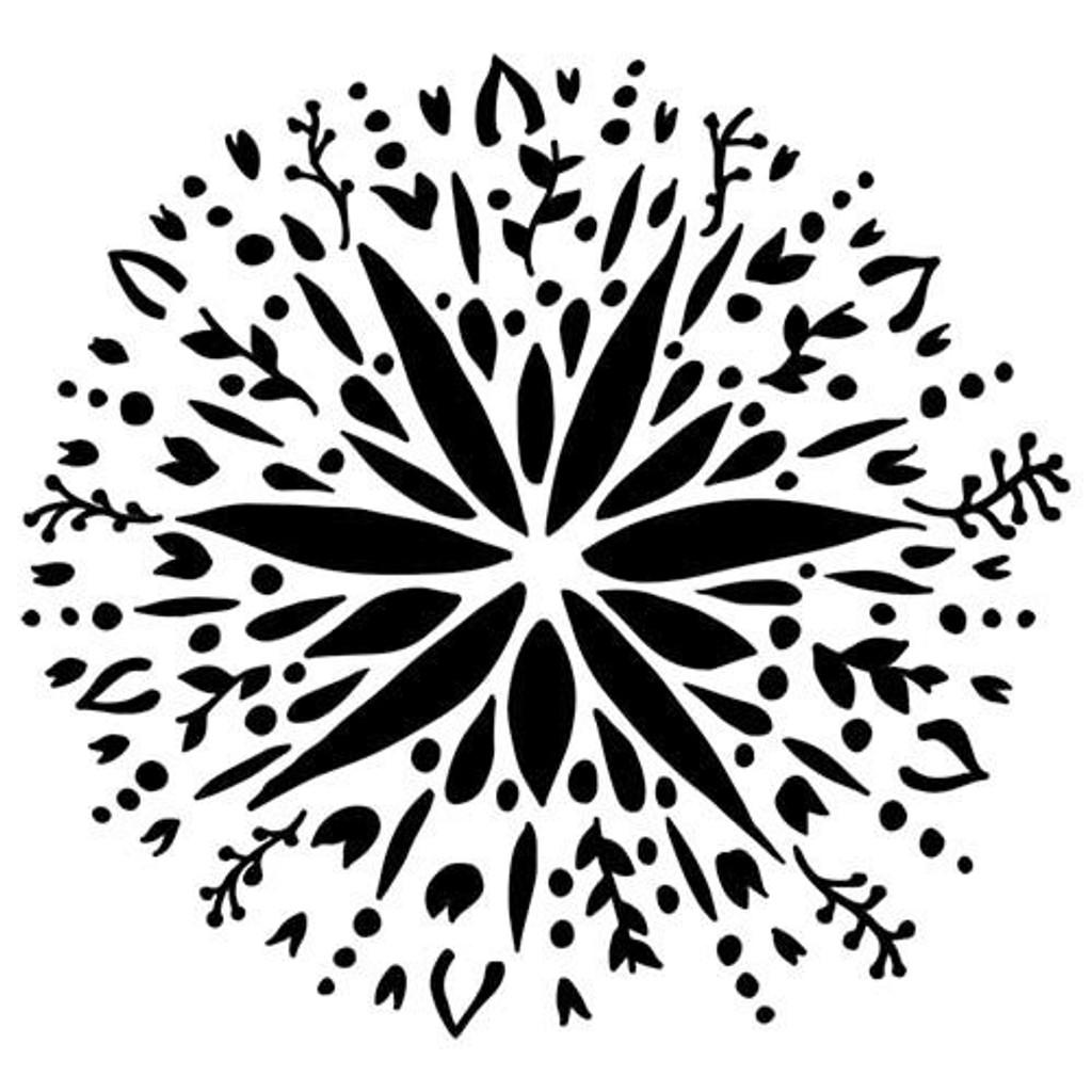 Folk Art Flower Crafters Workshop Kasia Krzyminska 6x6 Stencil (236493)