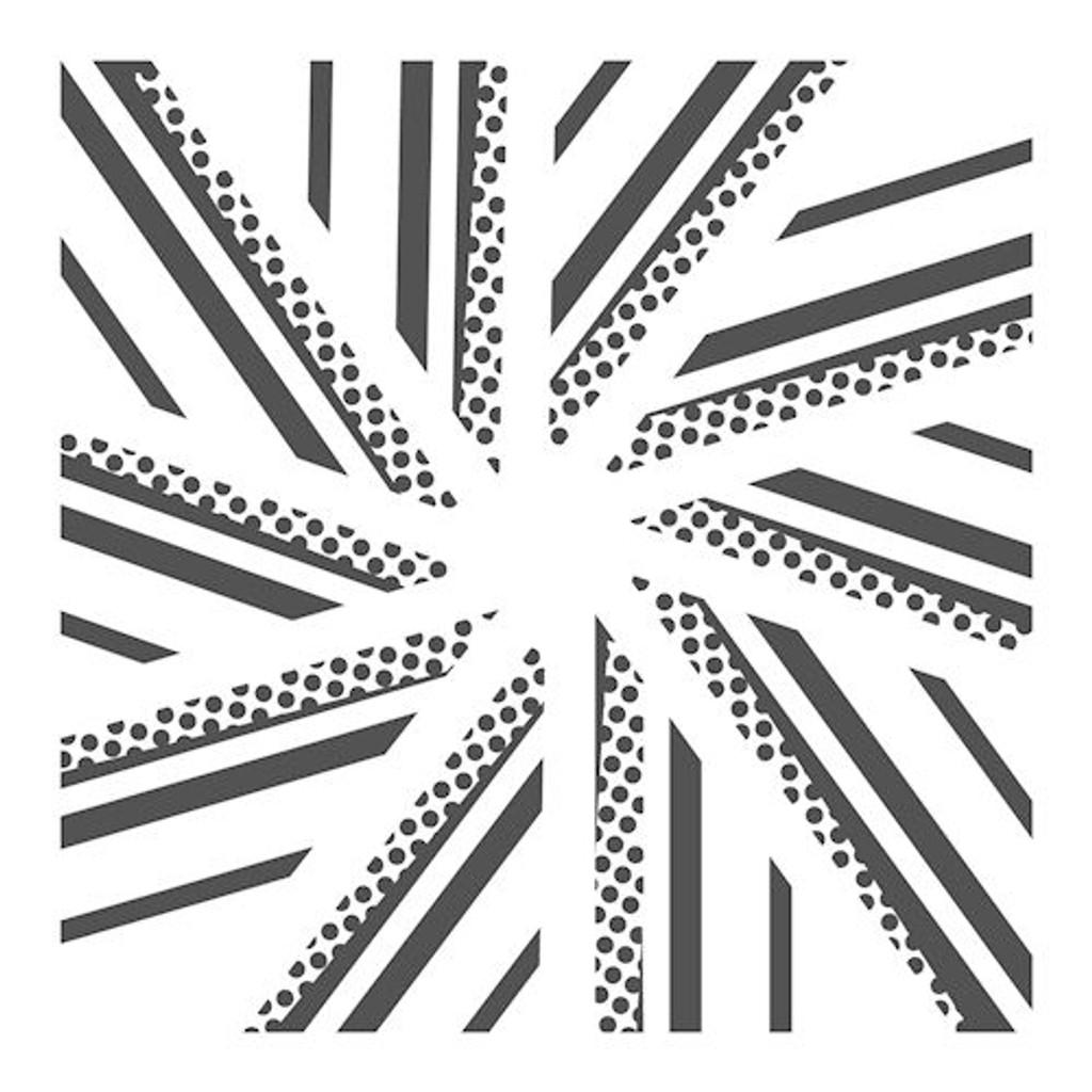 Crafters Workshop Pinwheel Stencil 12x12 (237425)