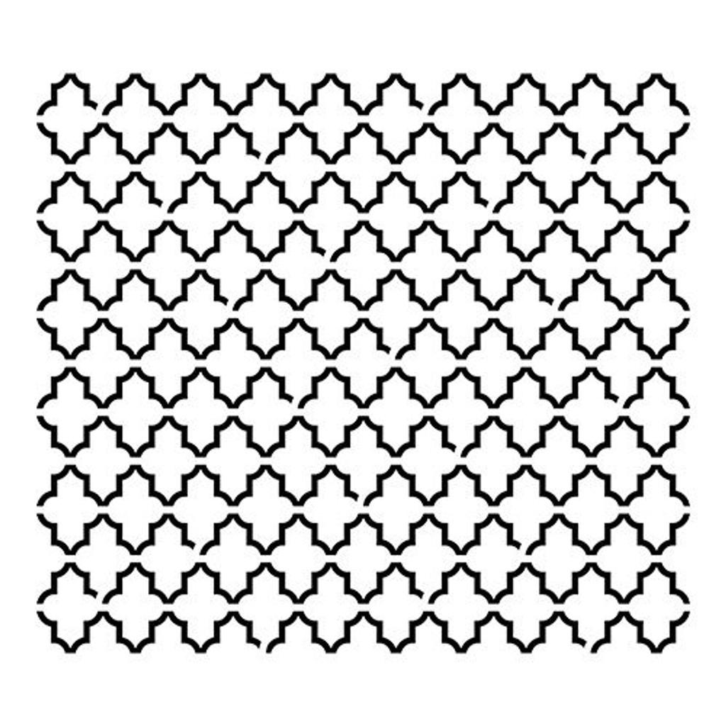 Crafters Workshop Ronda Palazzari 12x12 Stencil Quatrefoil Reversed (237427)