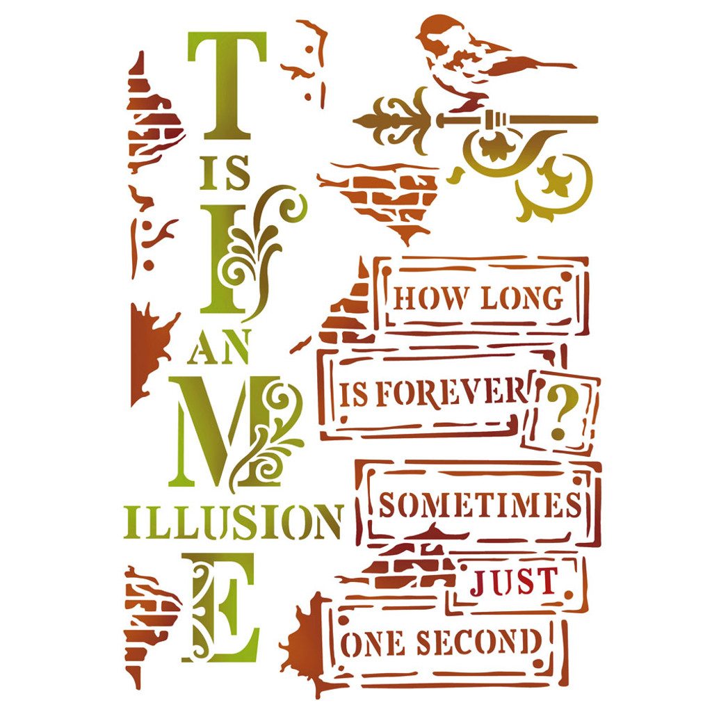 Stamperia Stencil - Time Is An Illusion