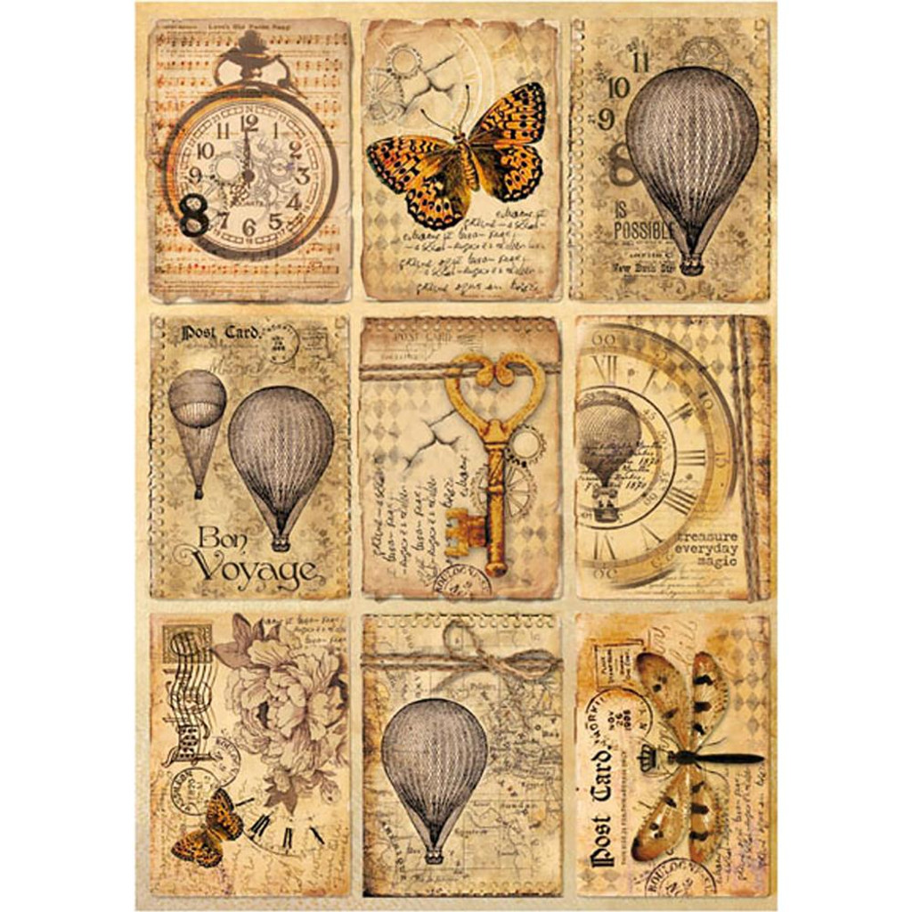 Stamperia - Mixed Media Postcards - Decoupage Rice Paper 8.25 x 11.5 (DFSA4240)